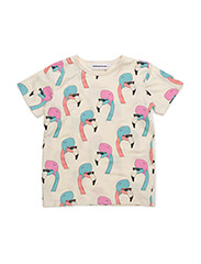 THE COOL TEE HELMUT FLAMINGO ALL OVER PRINT - CREME