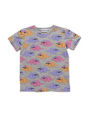 THE COOL TEE DORTHY THE DINO ALL OVER PRINT - GREY