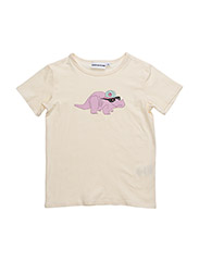 THE COOL TEE DORTHY THE DINO CHEST PRINT - CREME