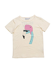 THE COOL TEE  HELMUT IS BACK CHESTand back PRINT - CREME