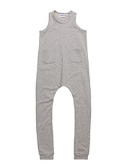 SHORT SLEEVED ONESIE - GREY