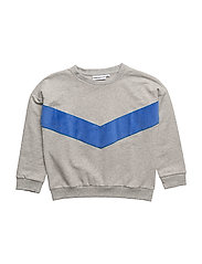 THE CLASSIC SWEATSHIRT SUPERHERO APPLIQUE - GREY BLUE