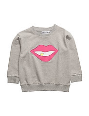 THE CLASSIC SWEATSHIRT MESH BACK SMILE - LIGHT GREY