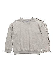 THE CLASSIC SWEAT SHIRT SHOULDER FLOUNCE - LIGHT GREY