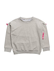 THE CLASSIC SWEATSHIRT SOCIALITE RUFFLE - LIGHT GREY