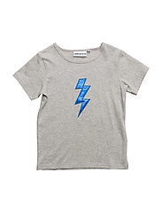 THE COOL TEE BOLT APPLIQUE - HEATHER GRAY