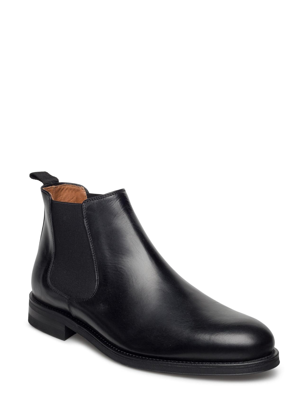 Chelsea Boot Garment Project Støvler til Herrer i Sort læder