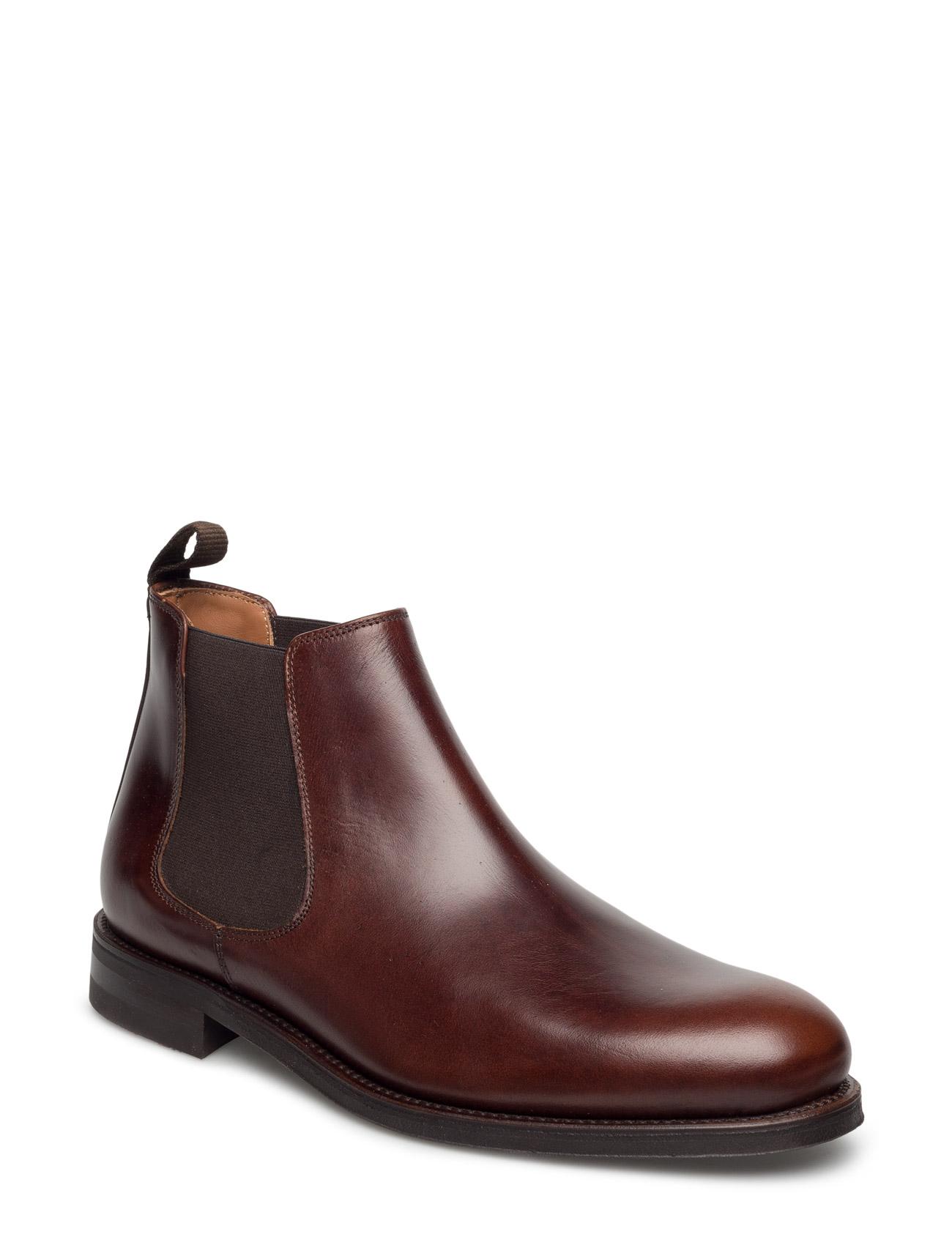 Chelsea Boot Garment Project Støvler til Mænd i Sort læder