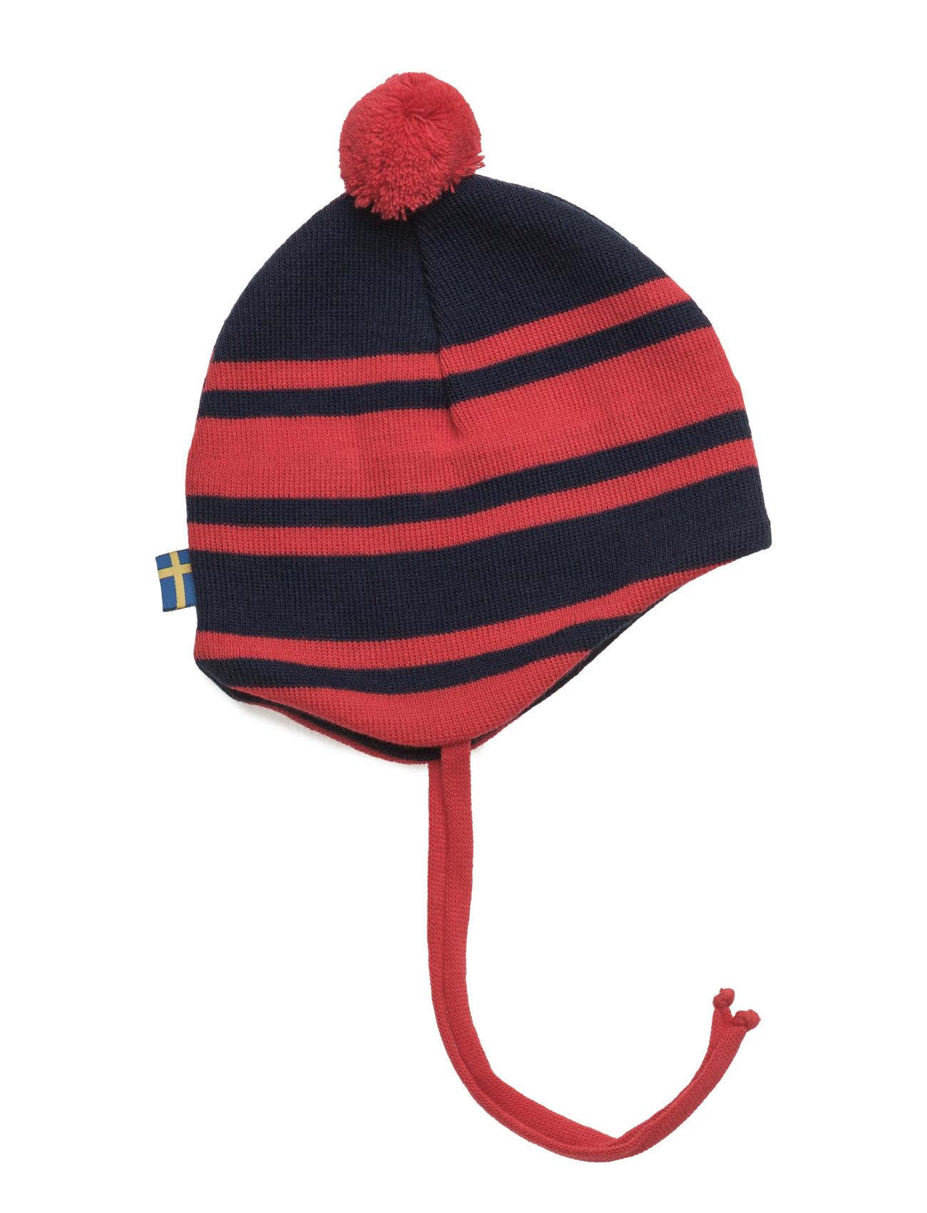 Knitted Baby Helmet Hat Geggamoja Hatte & Caps til Børn i marineblåt
