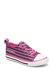 Striped Sneaker - CERISE