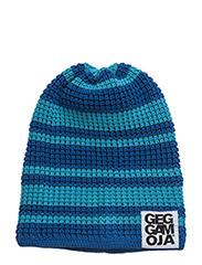 Knitted Beanie - BLUE/TURQ