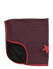 Baby Blanket - NAVY/RED