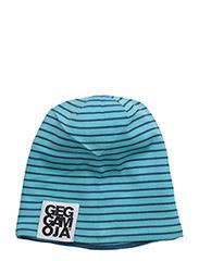 Two Color Cap Fleece - BLUE/TURQ