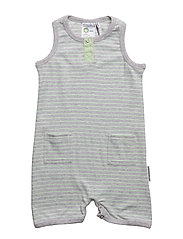 Baby summer dress - L.GREY MEL/MINT