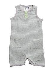Baby summer dress - L.GREY MEL/MINT