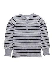 Grandpa sweater - GREY MEL/D.GREY