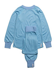 Bamboo two-piece pyjamas - L.BLUE/TURQUOISE