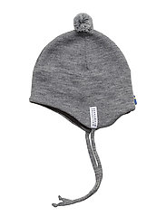 Knitted helmet - L.GREY MEL