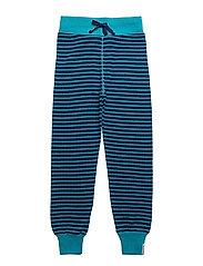 Wool trouser - MARINE/TURQ