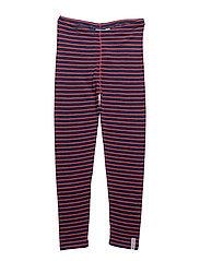 Wool tights - MARINE/ORANGE