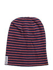 Wool cap - MARINE/ORANGE