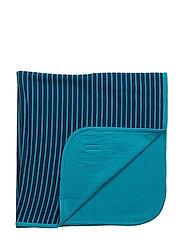 Wool blanket - MARINE/TURQ