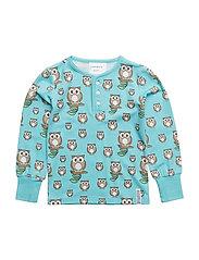 Bamboo sweater Owl - BLUE