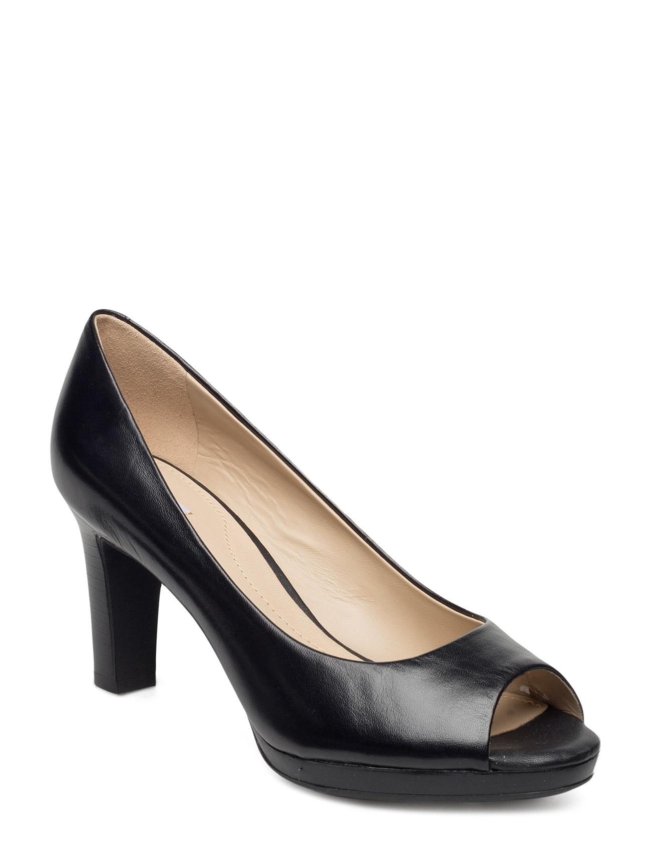 D Lana GEOX Stiletter til Kvinder i Black Oxford