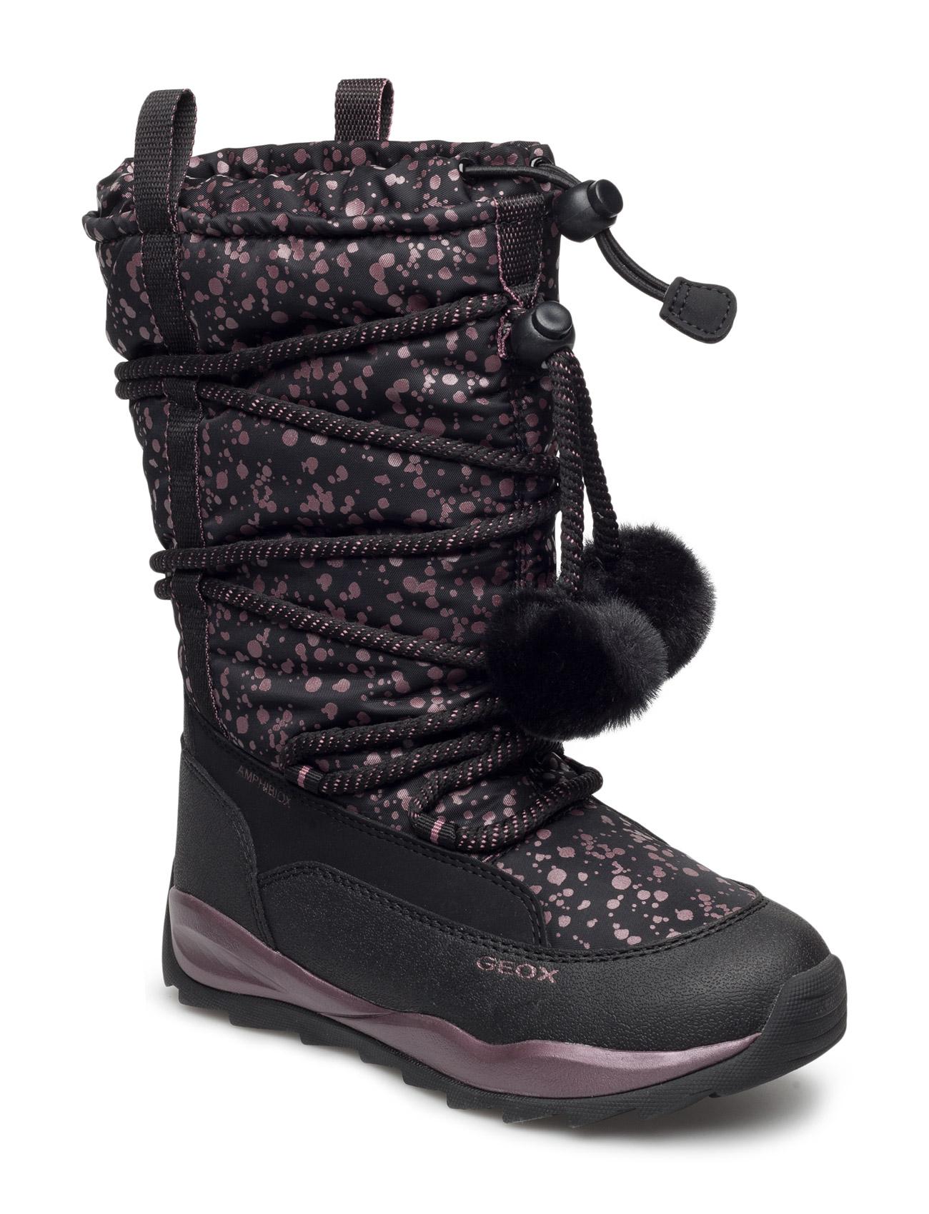 J Orizont B Girl Abx GEOX Støvler til Børn i Black Oxford
