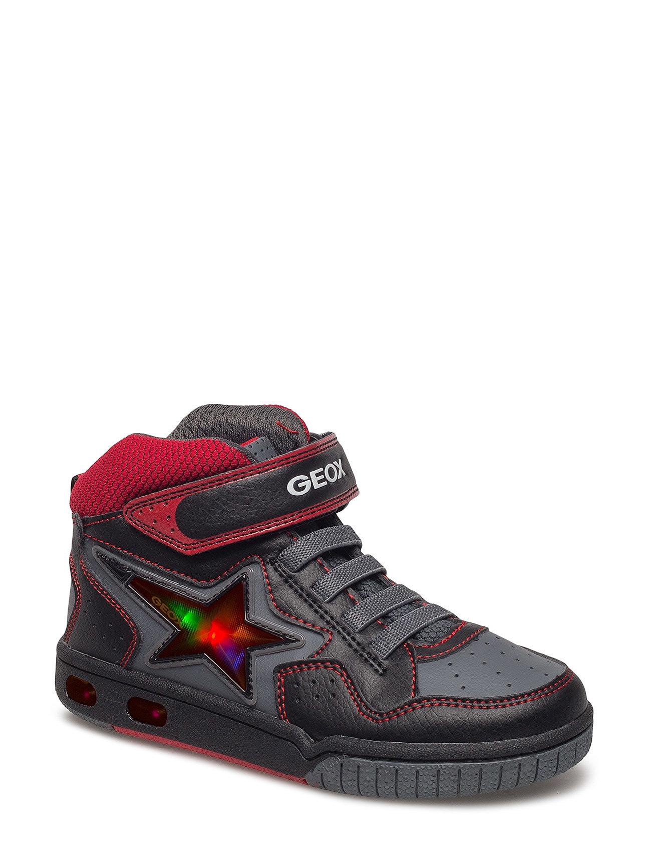 Jr Gregg A GEOX Sko & Sneakers til Børn i Sort Rød