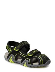 JR SANDAL KRAZE - BLACK/FLUO YELLOW