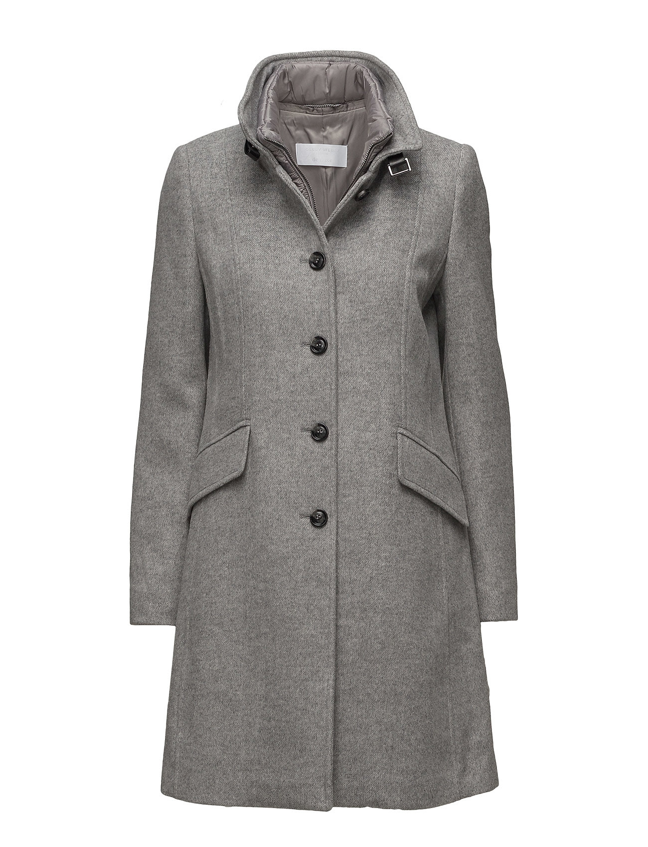 Coat Wool Gerry Weber Edition Frakker til Damer i Grey Melange