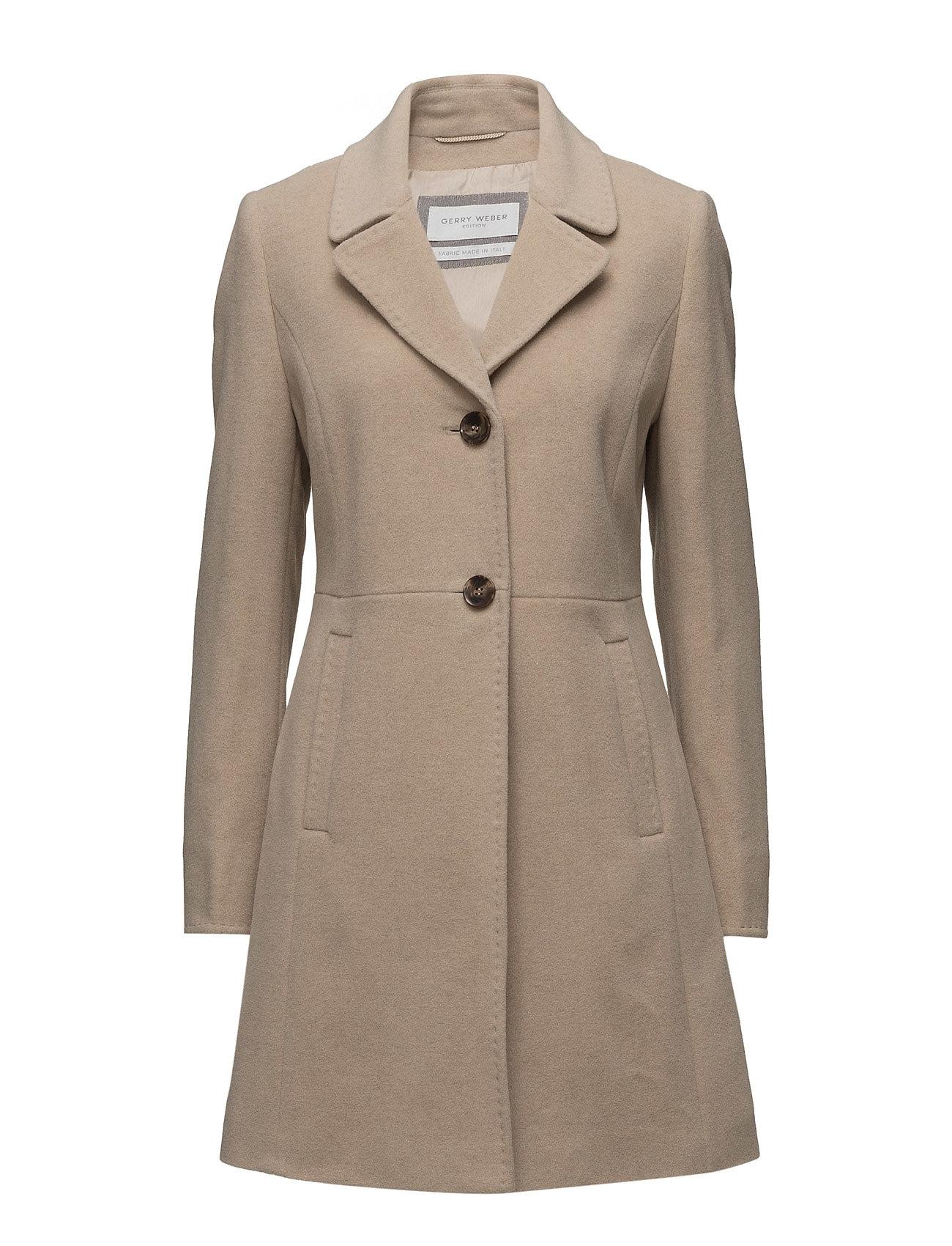 Coat Wool Gerry Weber Edition Frakker til Damer i Camel Melange