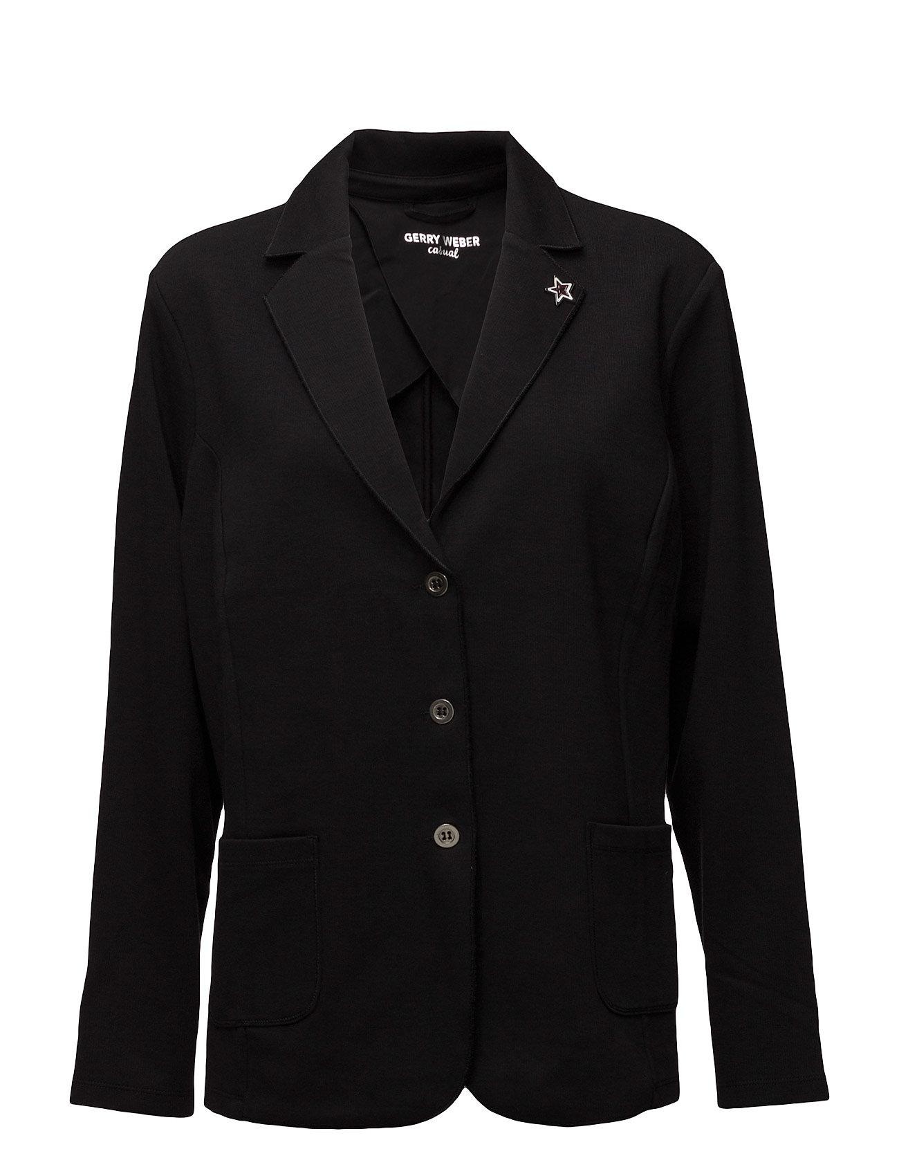 jacket knit fabrics black kr gerry weber edition. Black Bedroom Furniture Sets. Home Design Ideas
