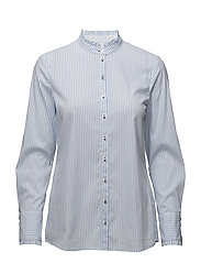 BLOUSE LONG-SLEEVE - WHITE-LIGHT BLUE