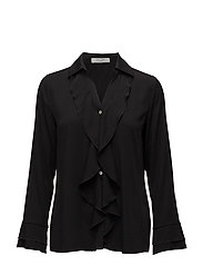 BLOUSE LONG-SLEEVE - BLACK