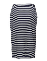 SKIRT KNITWEAR - BLUE/GREY HOOPS