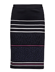 SKIRT SHORT WOVEN FA - NAVY-WHITE