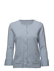 JACKET KNITWEAR - LIGHT BLUE MELANGE