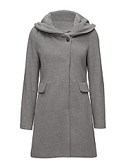 COAT NOT WOOL - GREY MELANGE