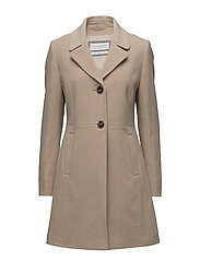 COAT WOOL - CAMEL MELANGE