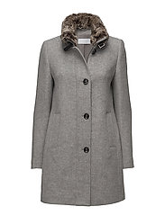 COAT WOOL - GREY MELANGE