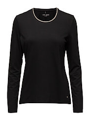 T-SHIRT 3/4-SLEEVE R - BLACK