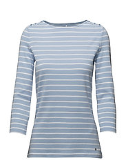 T-SHIRT 3/4-SLEEVE R - BLUE/ECRU/WHITE HOOPS