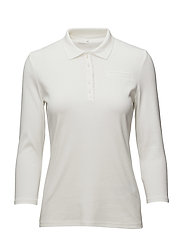 POLO SHIRT 3/4 SLEEV - MILK