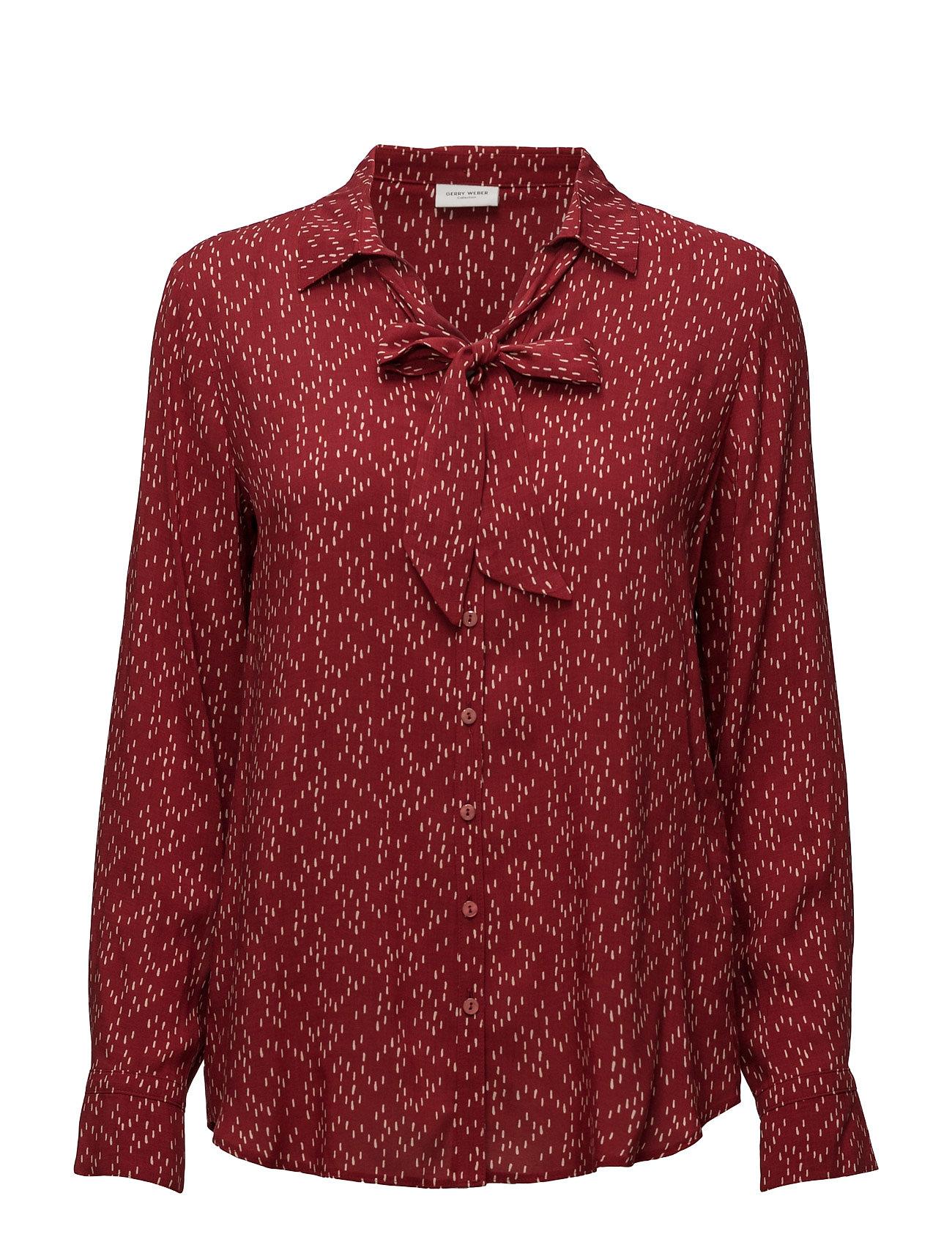 blouse long sleeve brick ecru print kr gerry weber. Black Bedroom Furniture Sets. Home Design Ideas