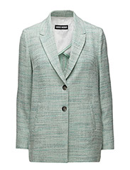BLAZER LONG-SLEEVE - OFFWITH GREEN GREY PATTERNED