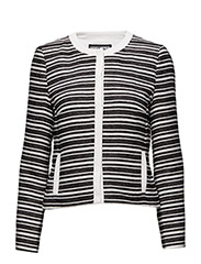 BLAZER LONG-SLEEVE U - BLACK/ECRU/WHITE STRIPES
