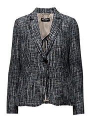 BLAZER LONG-SLEEVE U - COBALD BLUE FIGURED