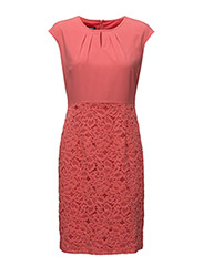 DRESS WOVEN FABRIC - CORAL